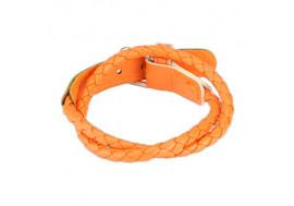 Bracelet tissé orange