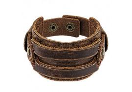 Bracelet homme en cuir marron ceinture