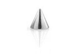 Accessoire piercing 1,6mm Spike acier 4x4mm
