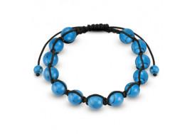 Bracelet Shamballa perles turquoises