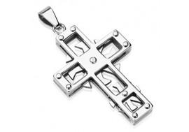 Pendentif acier chirurgical  croix
