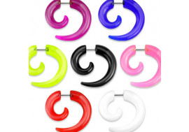 Faux plugs spiral