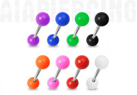 Barbell acrylique unies