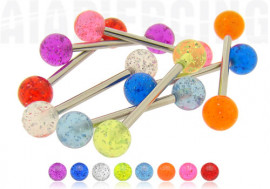Piercing barbell paillettes
