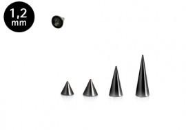 Spike acier noir 1.2mm