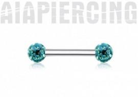 Piercing téton swarovki turquoise