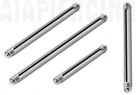 Piercing LOT accessoire barbell 16mm x 1.6mm