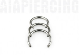 Barre piercing fer a cheval 1.2mm