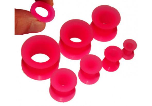Tunnel silicone rose- De 4mm à 18mm