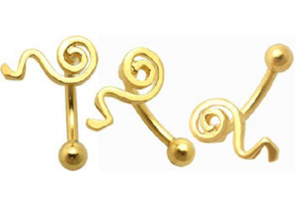 Piercing arcade spirale argent vermeil