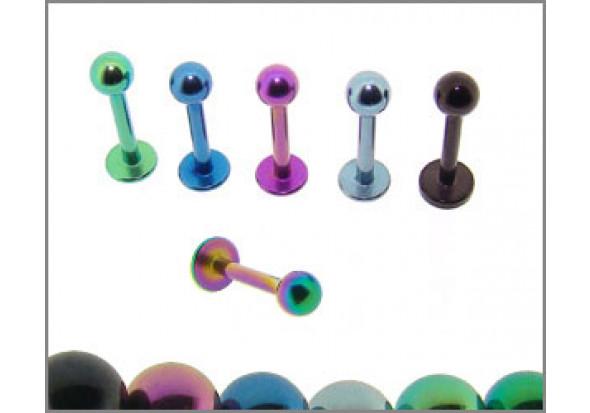 Piercing micro labret anodisé