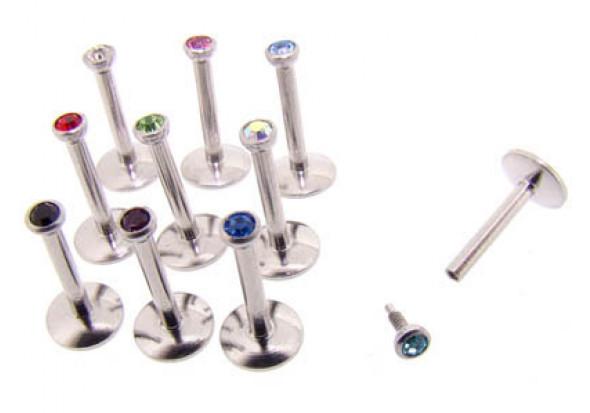 Piercing labret Madonna - Cristal au choix