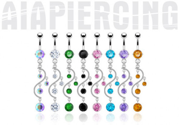 Piercing nombril cascade
