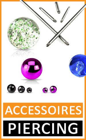 piercing accessoires bille tige