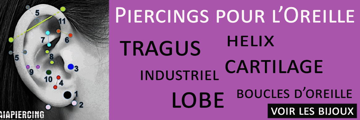 Piercing helix cartillage oreille