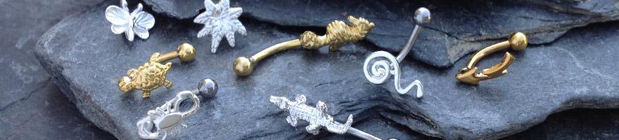 piercings d'arcade en argent et argent plaqué or