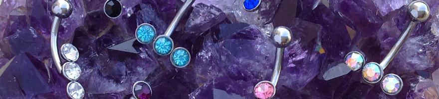 nouveaux bijoux pour piercing arcade, oreilles et capuchon vertical